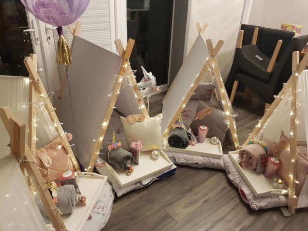Girl Unicorn Sleepover Party