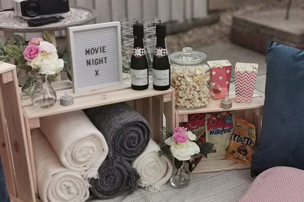 Movie Night Setup